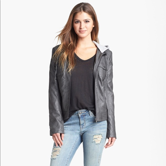 attractivefashion first rate professional website Jessica Simpson Heathcliff faux leather jacket